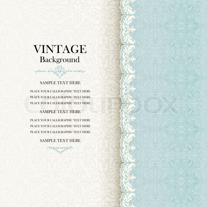 Elegant Bookcover Design: Vintage Hintergrund, Antike Einladung ...