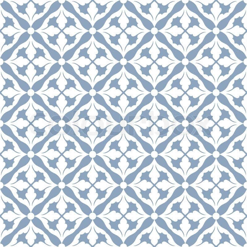 Royal blue damask pattern
