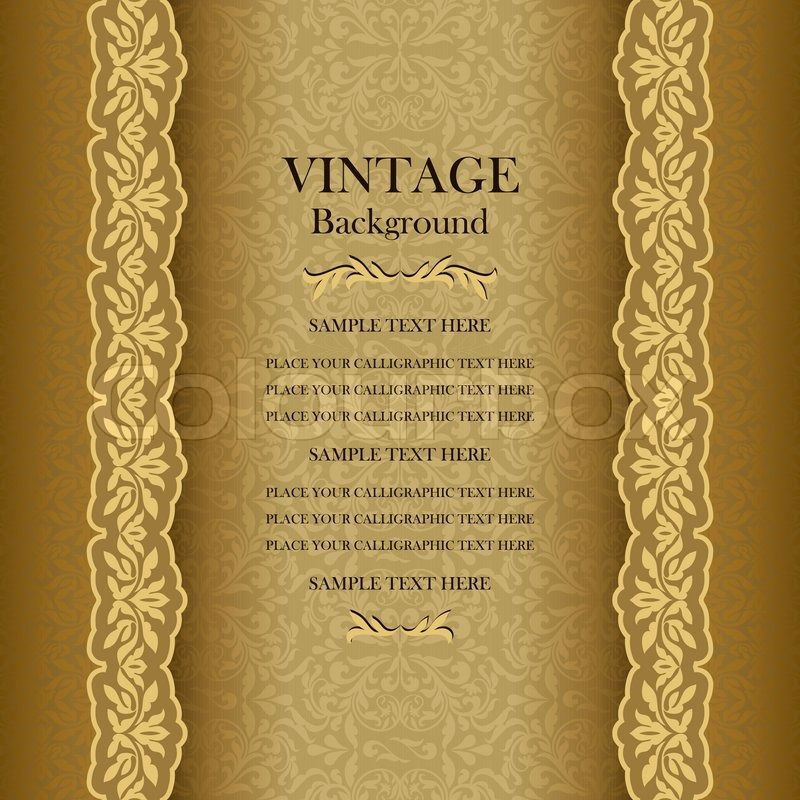 vintage gold background  elegance antique  victorian