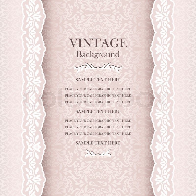 vintage wedding background elegance stock vector colourbox vintage wedding background elegance