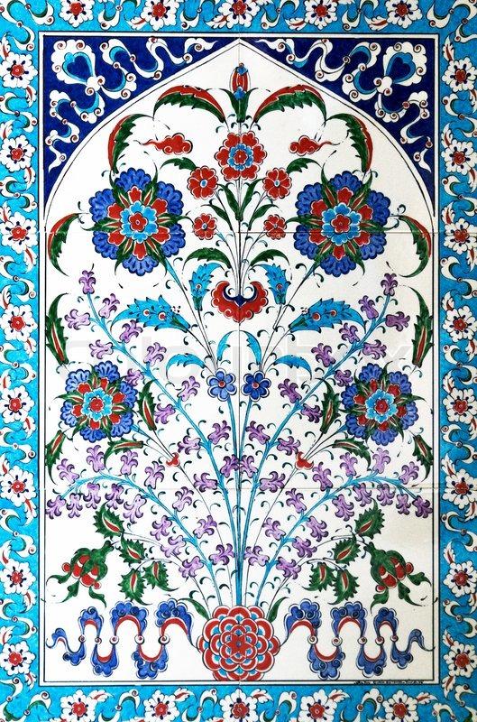 Türkische Fliesen Stockfoto Colourbox - Fliesen auf türkisch