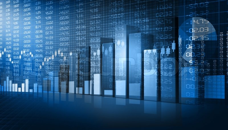 business graphs background stock photo colourbox