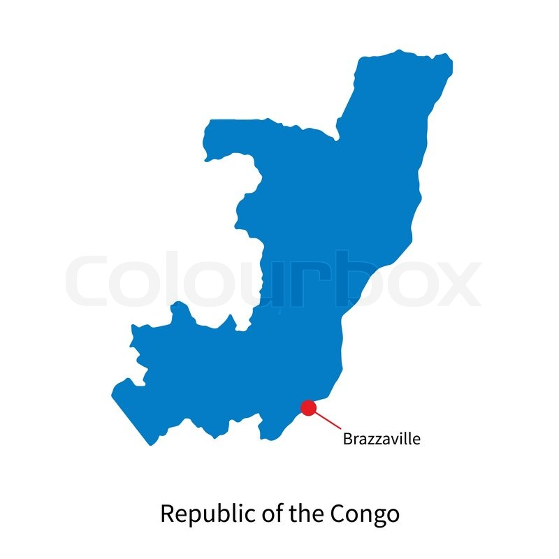 Detailed Vector Map Of Republic Of The Congo And Capital