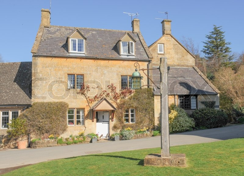 Cotswols Stone Houses In The Traditional And Quaint English Village Of Stanton Cotswolds Gloucestershire England UK