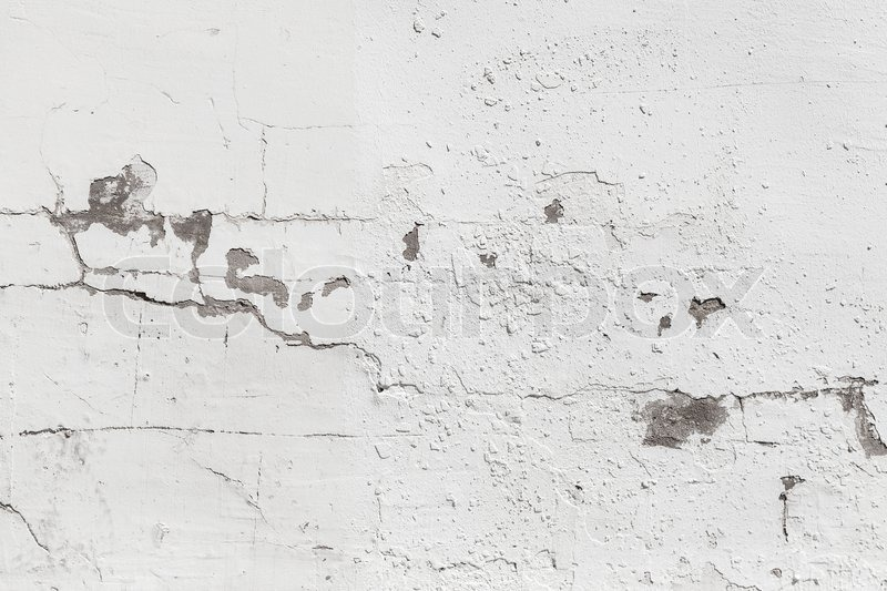Old Concrete Wall With White Paint Background Photo