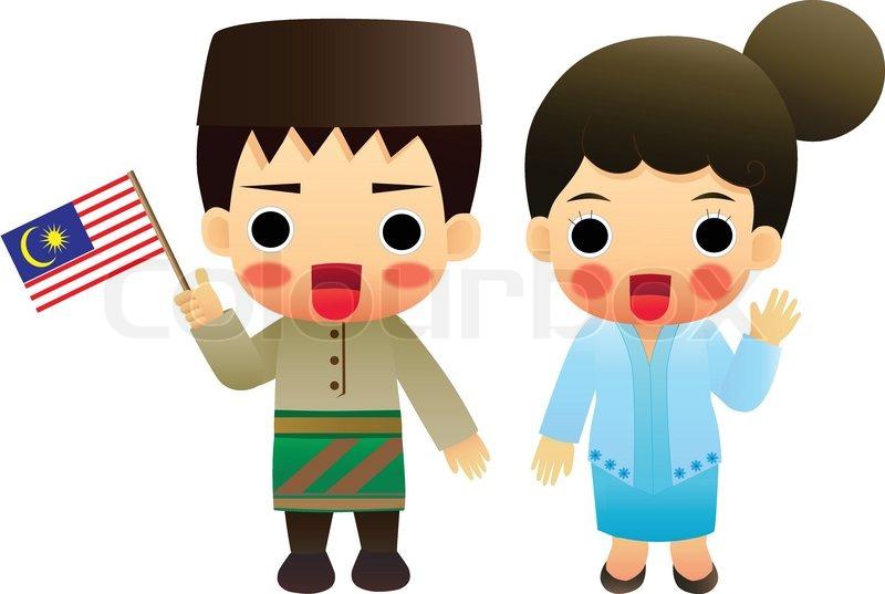 Malaysian People Clipart Cartoon ASEAN Malaysia...