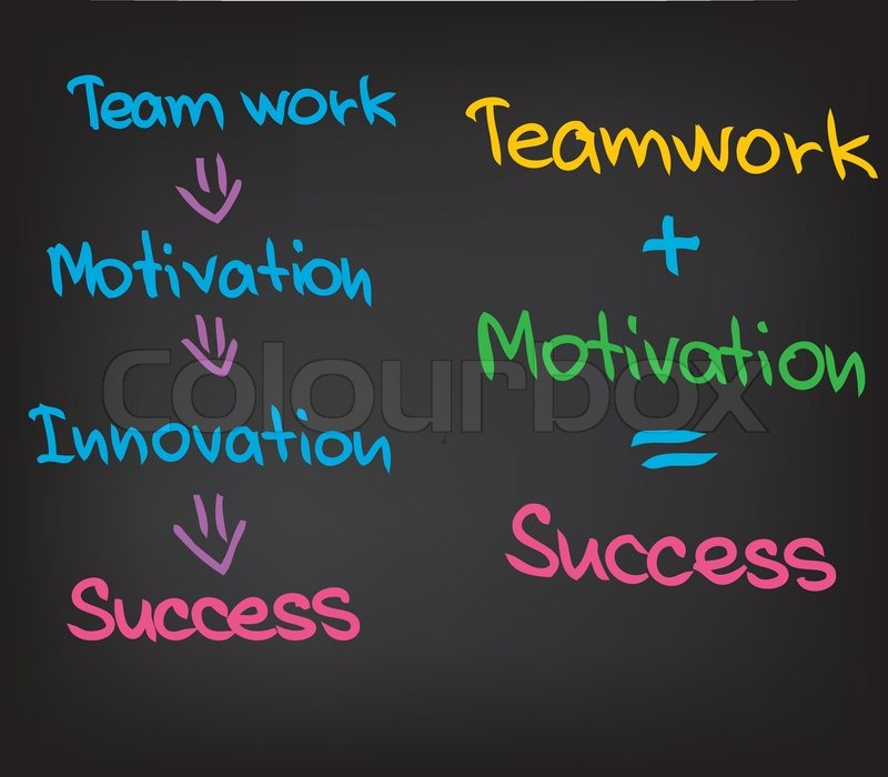 success teamwork motivation stock vector colourbox