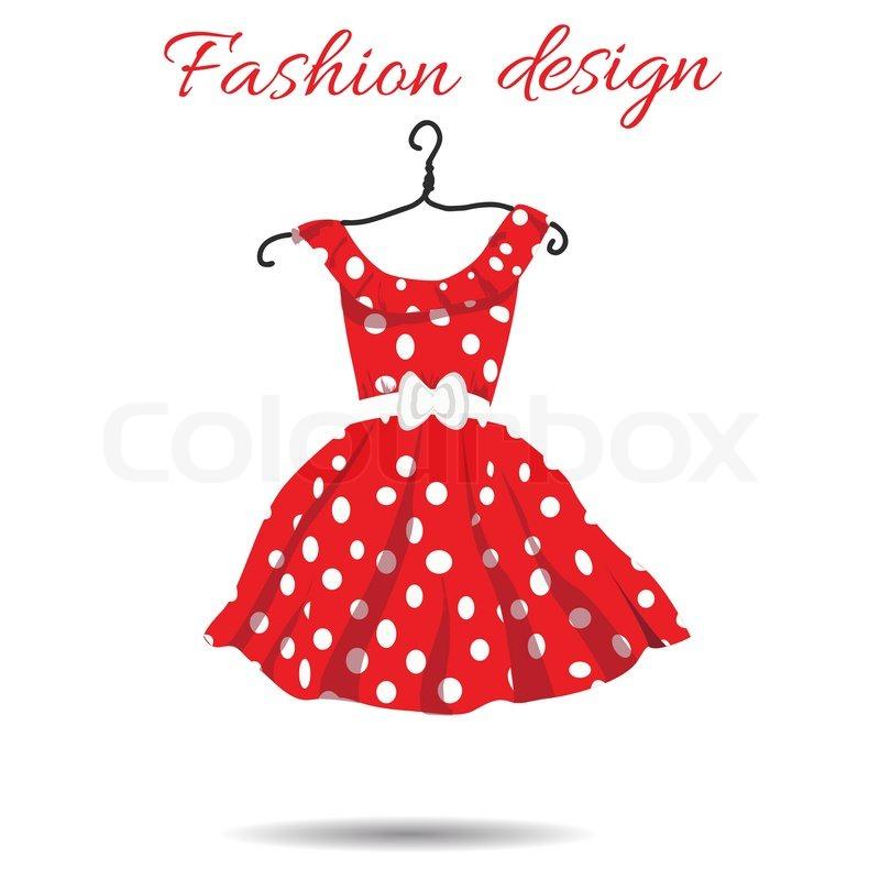 vector women dress polka dot illustration eps stock vector rh colourbox com Fashion Shopping Vector Fashion Shopping Vector
