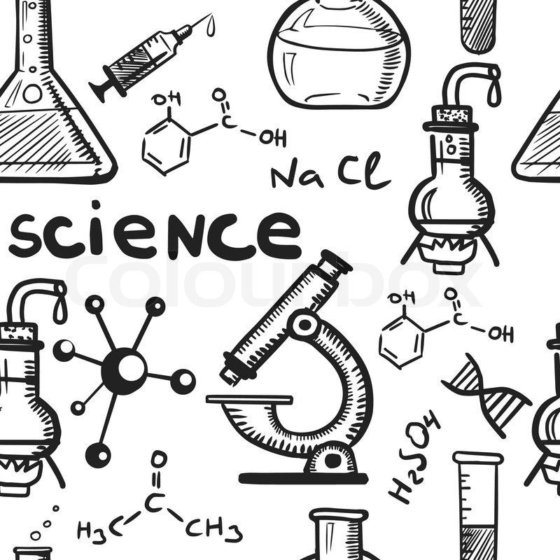 Chemistry And Science Concepts Seamless