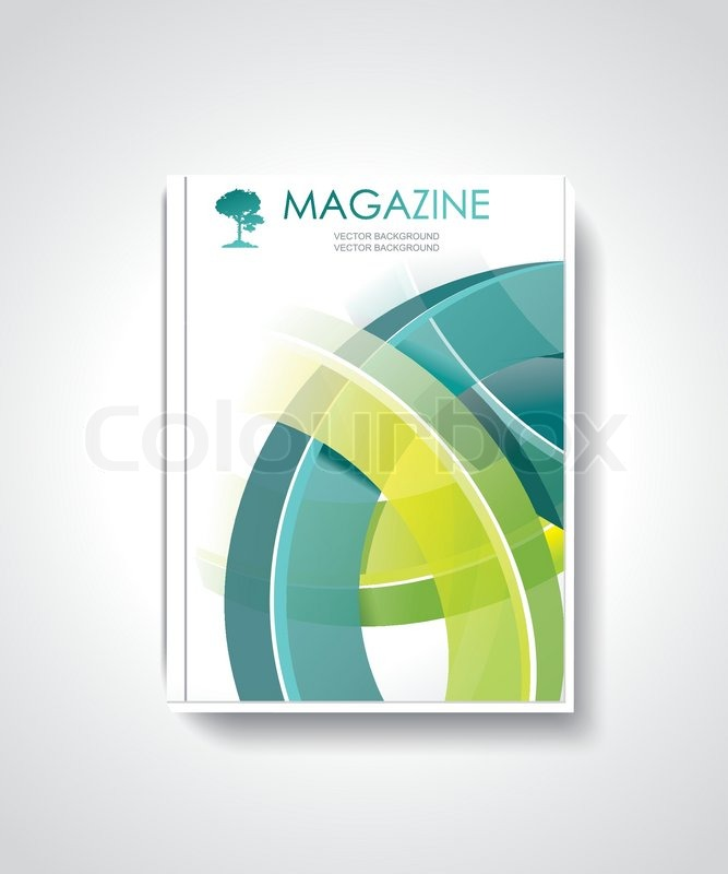 Magazine Or Brochure Template Design With Abstract D Technology - 3d brochure template