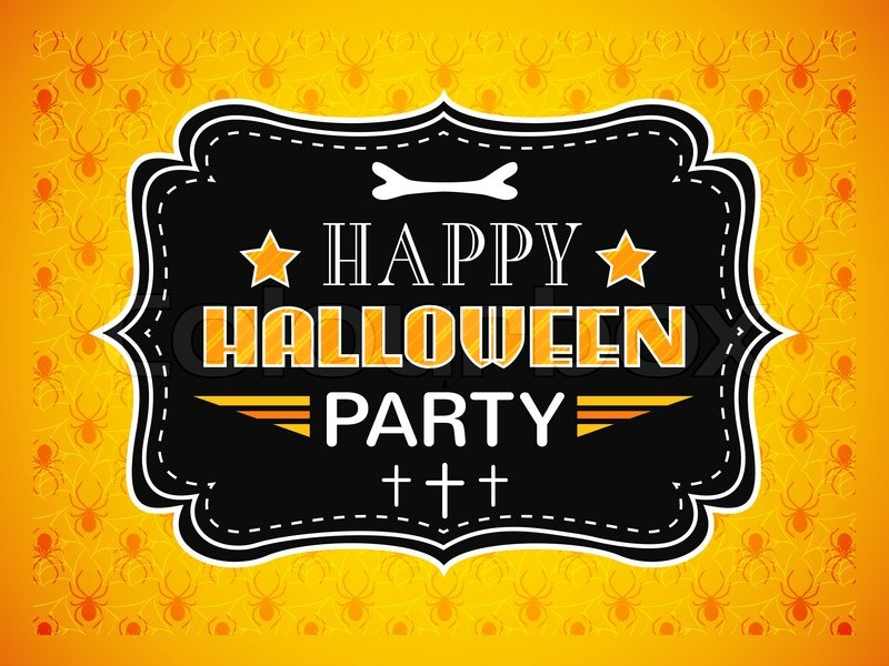 Happy halloween party card typography letters font type party 800pxcolourbox10936265g stopboris Gallery