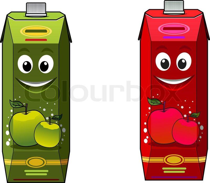 Juice Cartoon Cartoon Apple Juice Packages