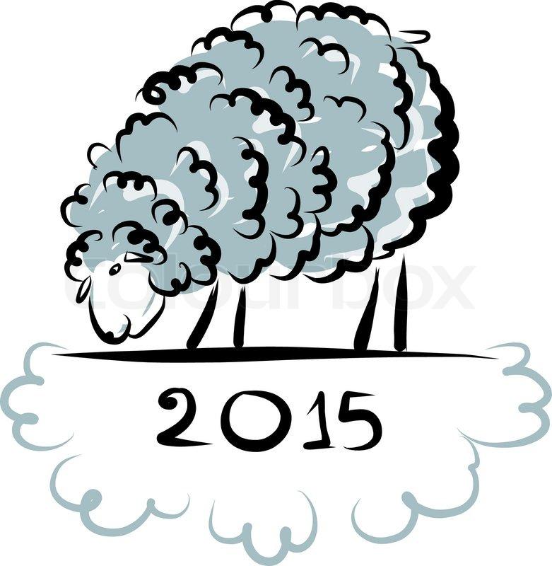 Symbol Sheep Sheep Sketch Symbol of New
