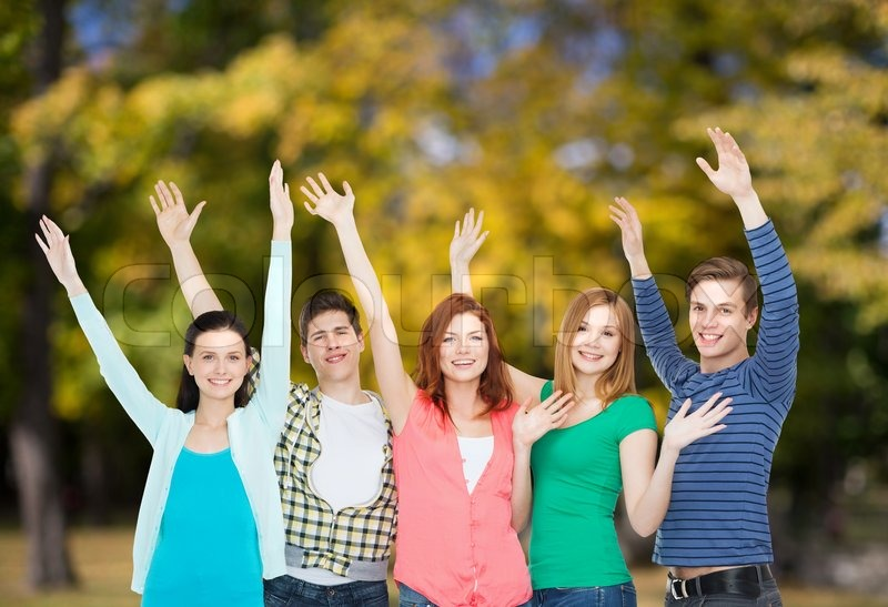 Education and people concept - group of ...   Stock Photo ...