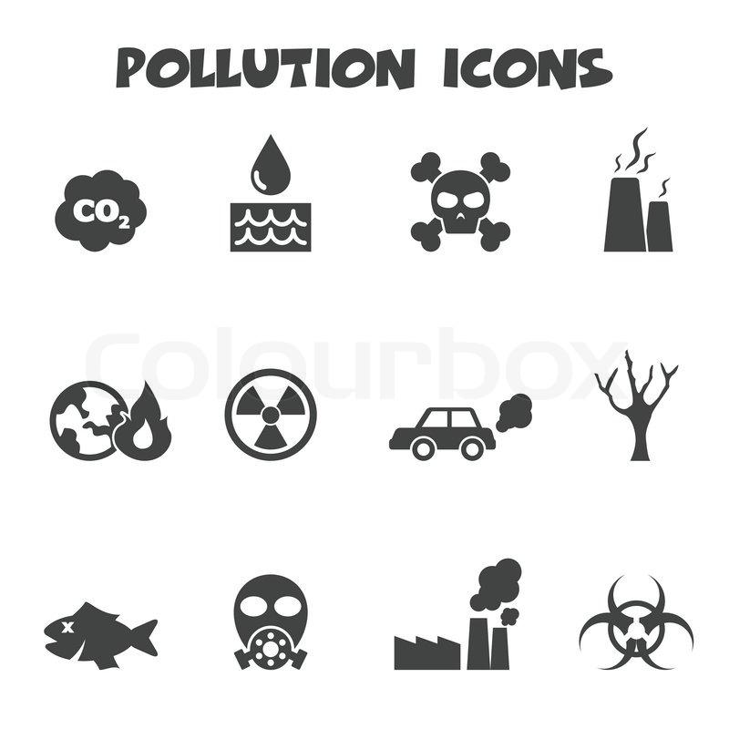 Umweltverschmutzung-Symbole | Vektorgrafik | Colourbox