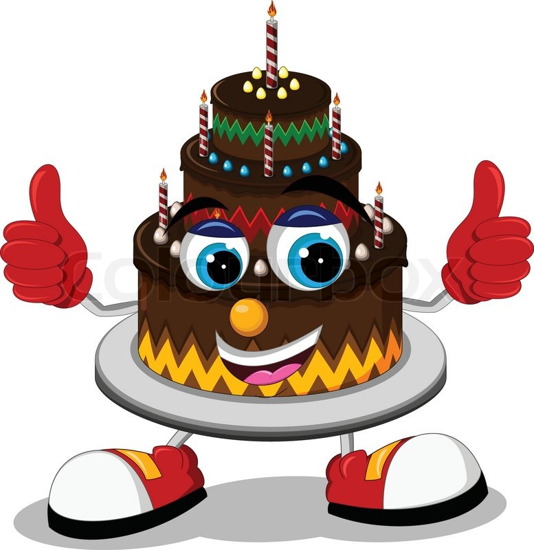 Vector Illustration Of Birthday Cake ...