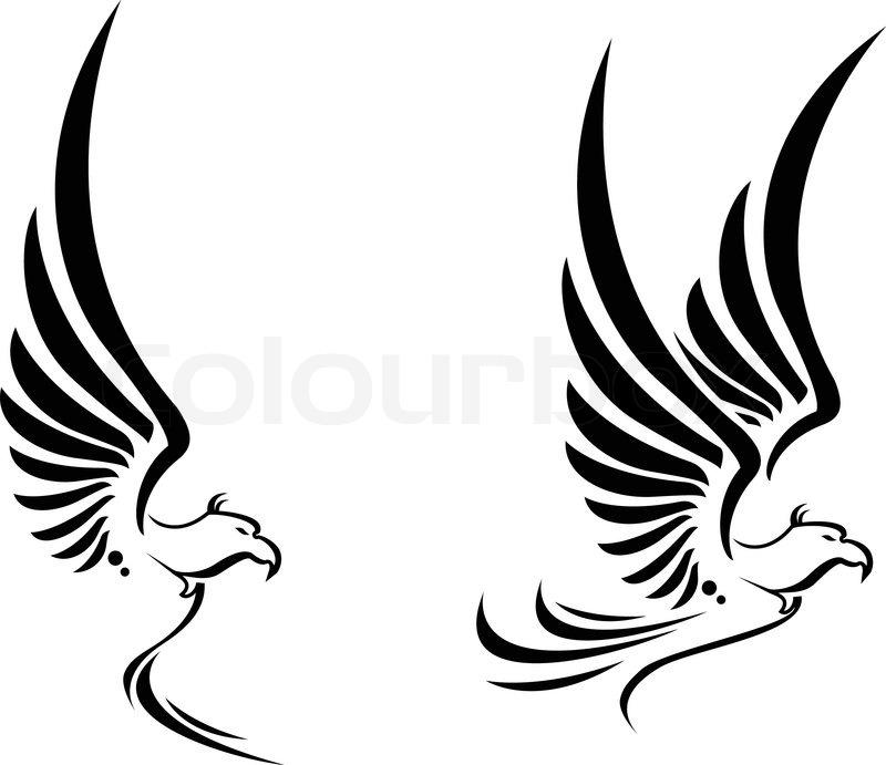 flying eagle tattoo f r sie entwerfen vektorgrafik colourbox. Black Bedroom Furniture Sets. Home Design Ideas