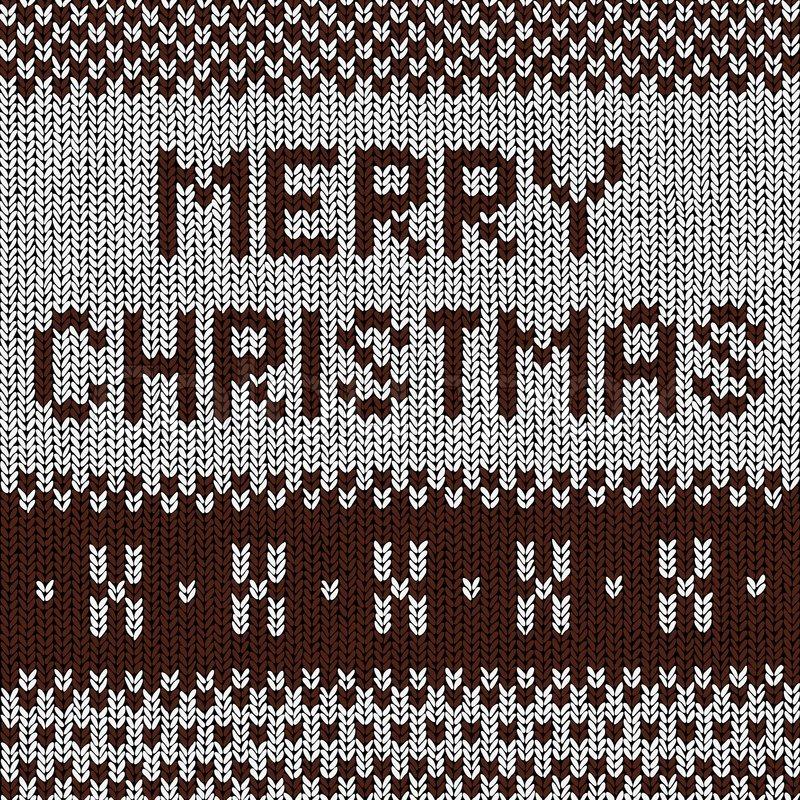 Christmas Background Norwegian Knitting Patterns Stock Vector