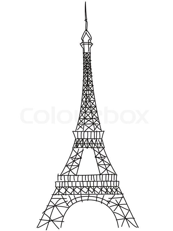 Doodle Eiffelturm | Vektorgrafik | Colourbox