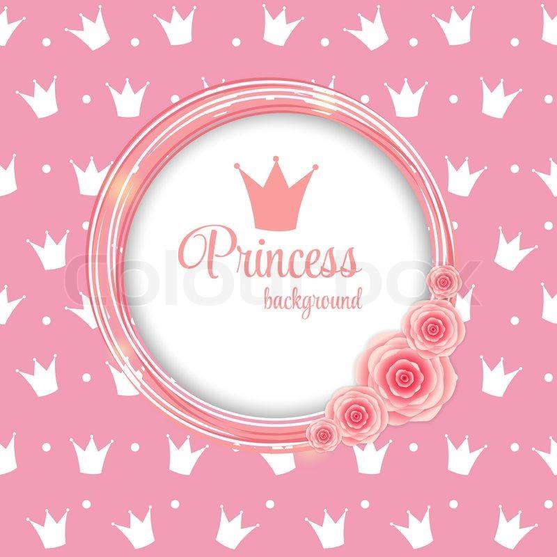 Pink princess crown background illustration stock photo - Images princesse ...