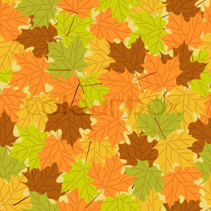 Maple Leaf Seamless Pattern Vector Seamless Background Autumn Delectable Maple Leaf Pattern