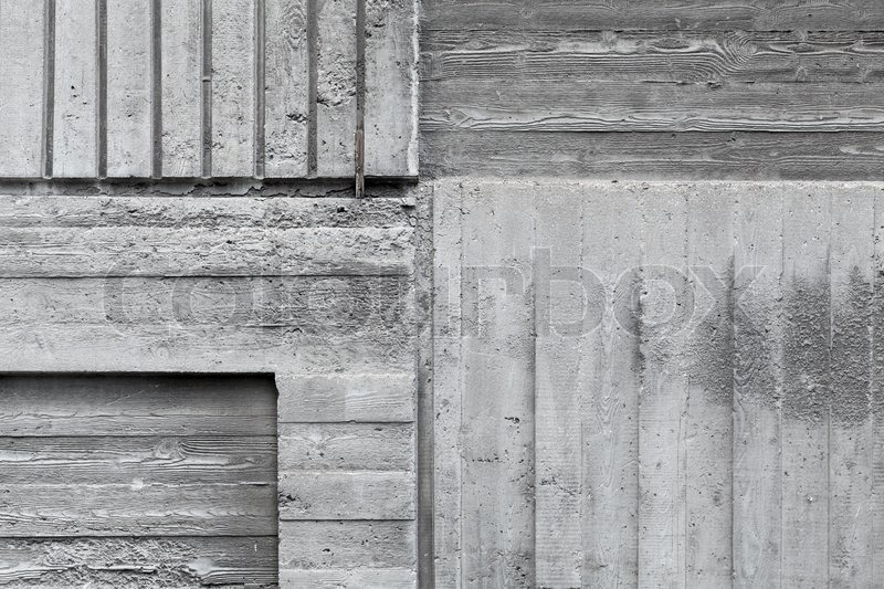 graue betonwand abstrakt hintergrundtextur mit h lzernen muster stockfoto colourbox. Black Bedroom Furniture Sets. Home Design Ideas