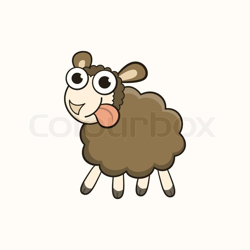 Cartoon Schafe, Zeichen für Weihnachten und Neujahr 2015 ...