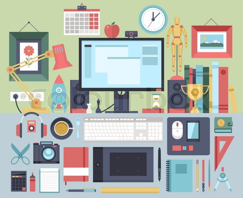 Flat modern design vector illustration concept of creative office