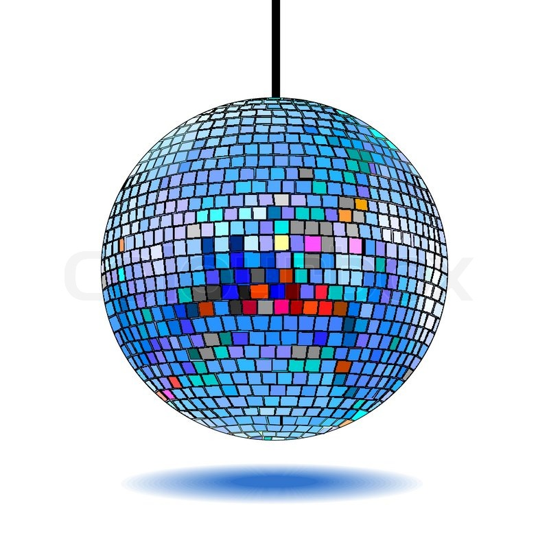 Mirror disco ball vector illustration EPS10. Transparent ...