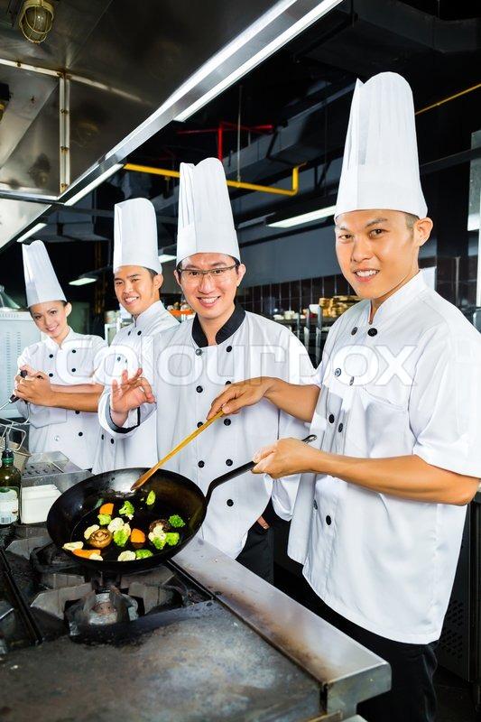 Restaurant Kitchen Chefs chef, restaurant, kitchen, asian, cook, cooks, hotel, cooking