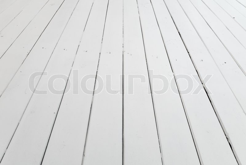 stock image of white wooden floor background with perspective