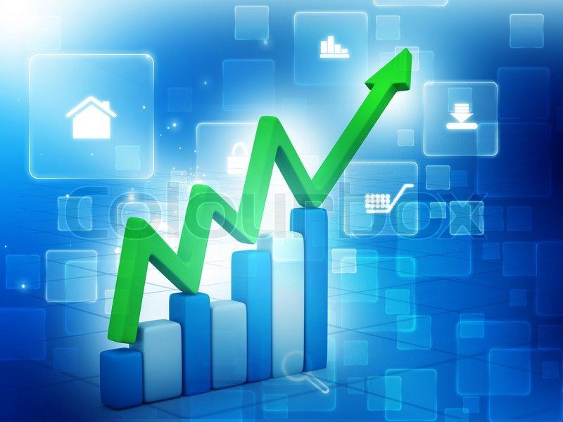 3d business graph background stock photo colourbox