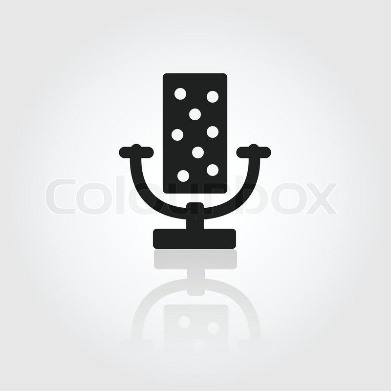 Mikrofonsymbol | Vektorgrafik | Colourbox