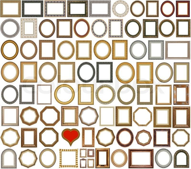83 gold Bilderrahmen mit einem dekorativen Muster | Stockfoto ...