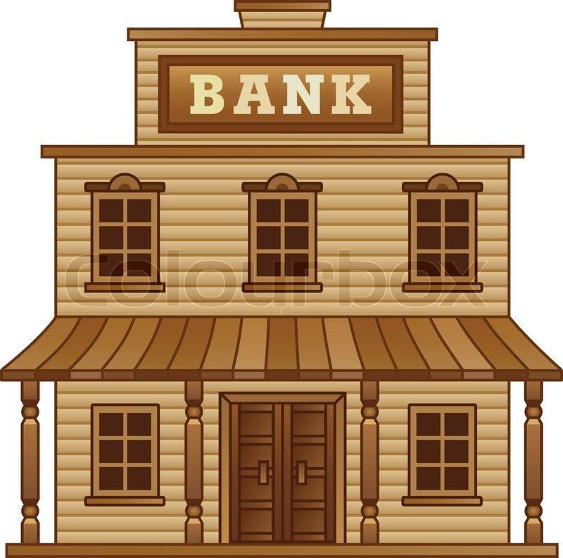 Wild west bankgeb ude vektorgrafik colourbox - Dessin saloon ...