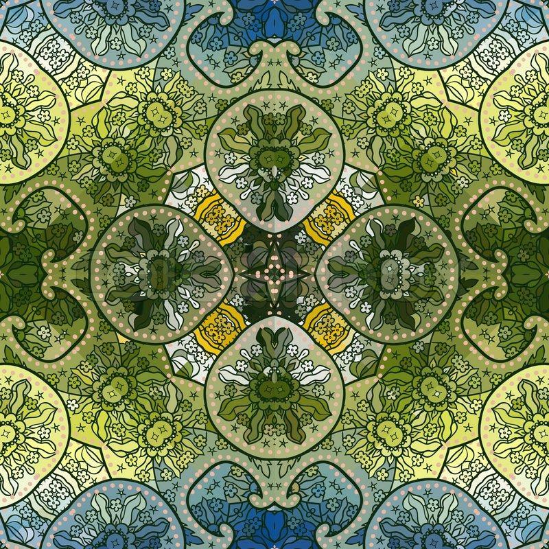Henna Wallpaper: Hand Drawn Henna Patten, Seamless Wallpaper, Vector
