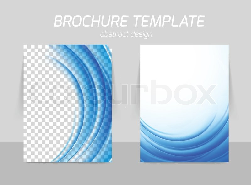 Flyer Template Back And Front Design In Blue Color Soft Design