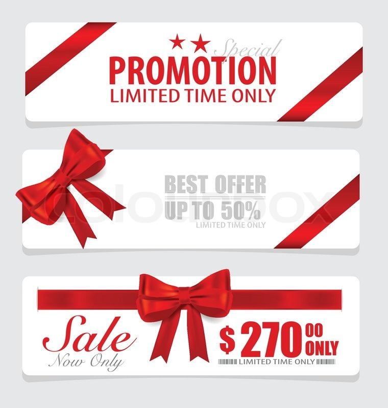 End Of Year Sale Savings Labels Set, Price Tag, Sale Coupon