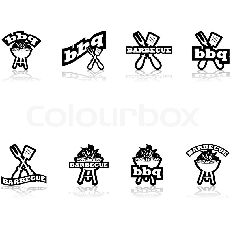 grill symbole vektorgrafik colourbox. Black Bedroom Furniture Sets. Home Design Ideas
