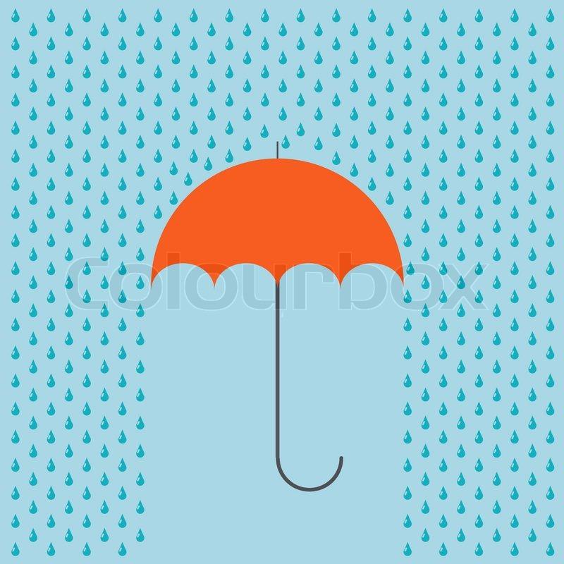 vector modern umbrella with rain background eps10 stock vector