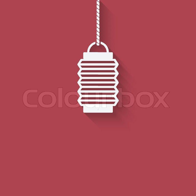 chinese lantern design element vector illustration eps 10 stock