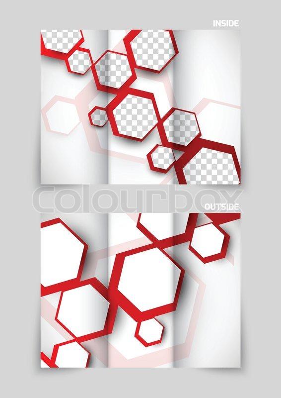 tri fold brochure template design