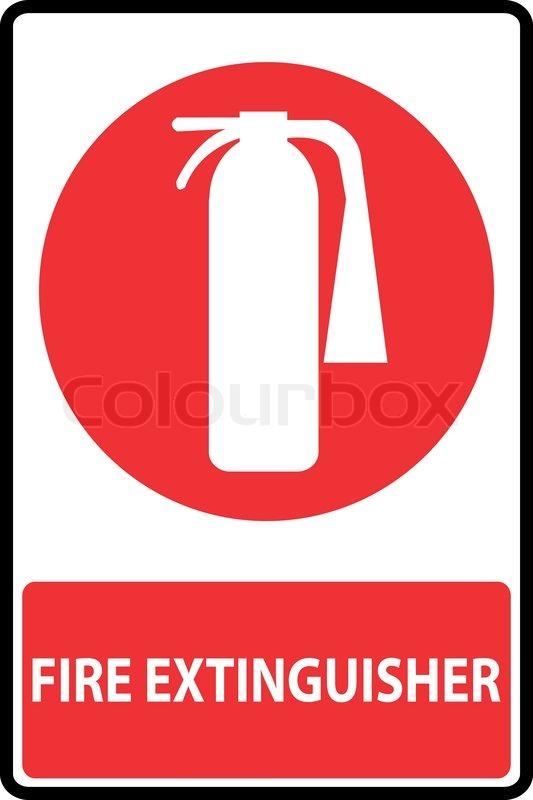 symbol of fire extinguishers sign vector illustration