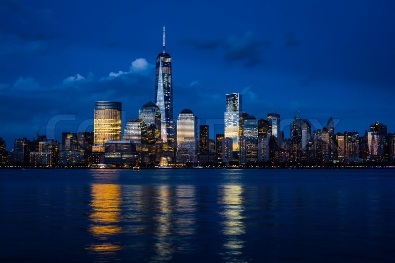 New york city manhattan downtown skyline mit - Architekt one world trade center ...