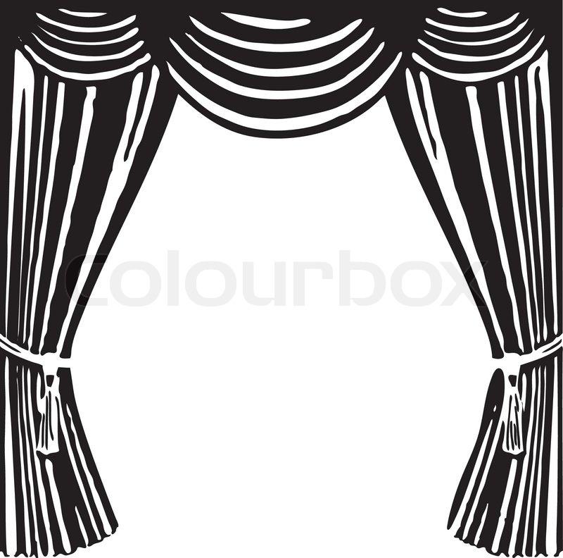 theater vorhang vektorgrafik colourbox. Black Bedroom Furniture Sets. Home Design Ideas