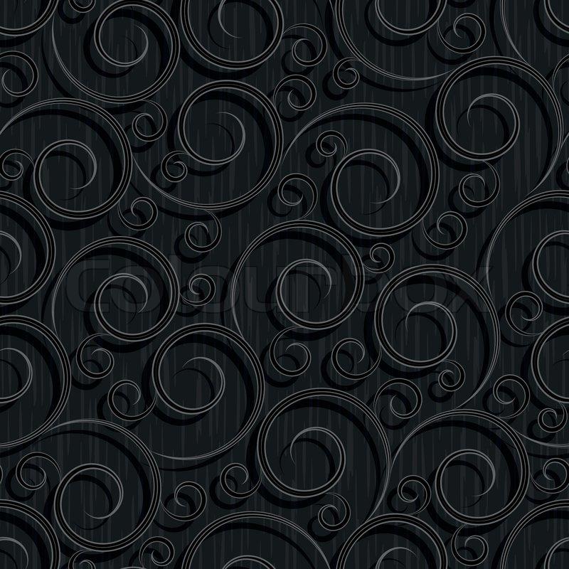 Seamless Black Floral Abstract Stock Vector Colourbox