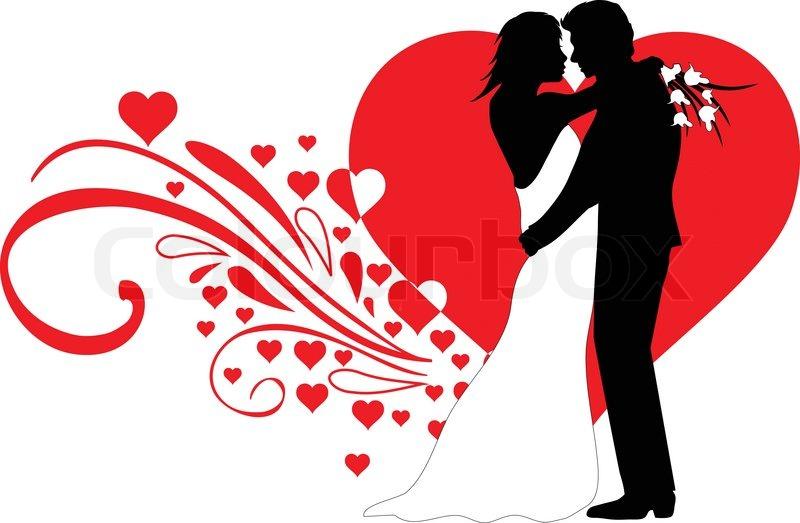 wedding couple stock vector colourbox rh colourbox com indian wedding couple clipart wedding couple clipart black and white