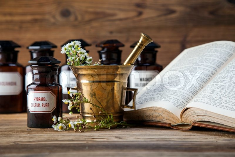 The ancient natural medicine, herbs,     | Stock image