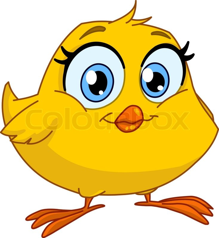 Cute smiling chick | Stock Vector | Colourbox
