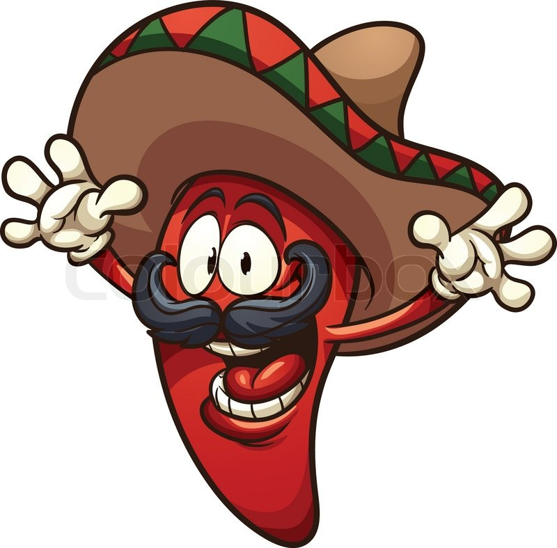 happy mexican chili pepper vector clip art illustration with simple rh colourbox com sample clip art simple clipart images